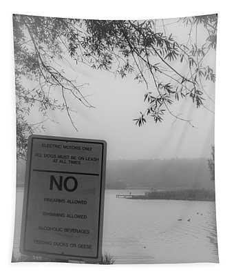 No Feeding Ducks Tapestry
