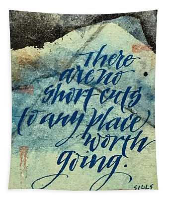 No Short Cuts Tapestry