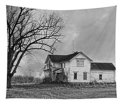No Trick Or Treating Here B And W Tapestry