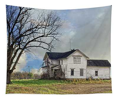 No Trick Or Treating Here Tapestry