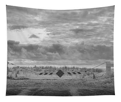 Tapestry featuring the photograph No Vehicles by Steve Stanger
