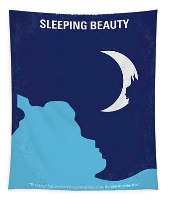 No1017 My Sleeping Beauty Minimal Movie Poster Tapestry