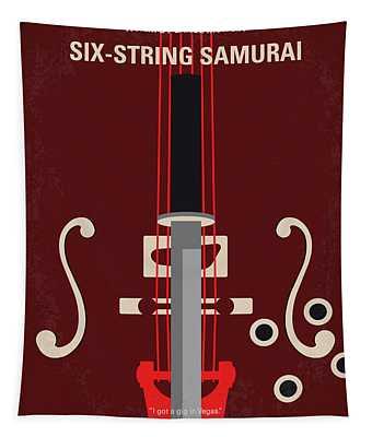No1020 My Six-string Samurai Minimal Movie Poster Tapestry
