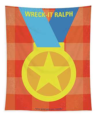 No1026 My Wreck It Ralph Minimal Movie Poster Tapestry