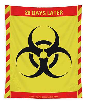 No1029 My 28 Days Later Minimal Movie Poster Tapestry