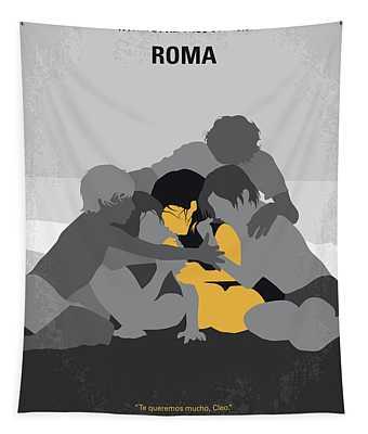 No1035 My Roma Minimal Movie Poster Tapestry