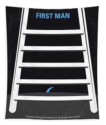 No1045 My First Man Minimal Movie Poster Tapestry
