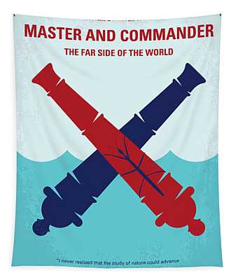 No1060 My Master And Commander Minimal Movie Poster Tapestry