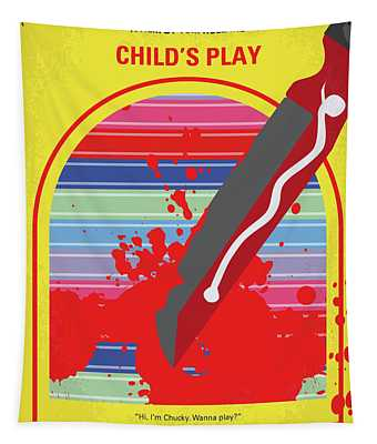 No1079 My Childs Play Minimal Movie Poster Tapestry