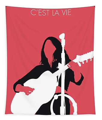 No282 My Emmylou Harris Minimal Music Poster Tapestry