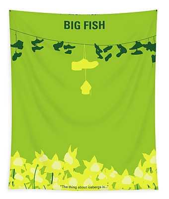 No993 My Big Fish Minimal Movie Poster Tapestry