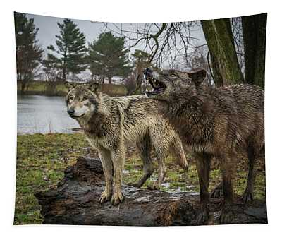Noisy Wolf Tapestry