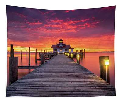 North Carolina Outer Banks Manteo Lighthouse Obx Nc Tapestry