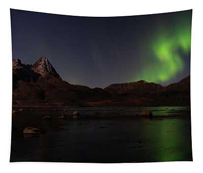 Northern Lights Aurora Borealis In Norway Tapestry