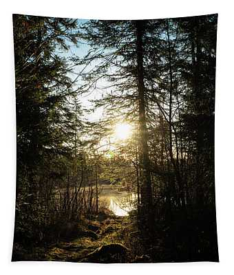 Northwoods Pond Trail Tapestry