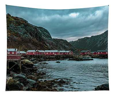 Norway Panoramic View Of Lofoten Islands In Norway With Sunset Scenic Tapestry