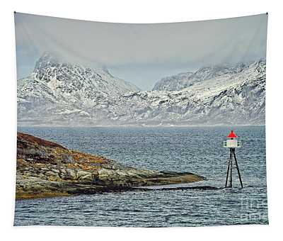 Norwegian Coast Around Bodo Tapestry