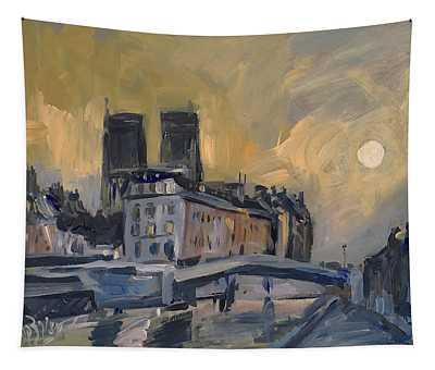 Notre Dame After Jongkind Tapestry