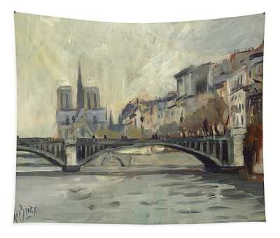 Notre Dame During Winter Tapestry