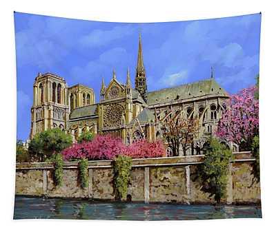 Notre Dame In Primavera Tapestry
