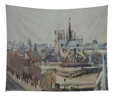 Notre Dame Of Paris Winter IIi Tapestry