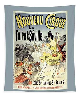 Nouveau Cirque Vintage French Advertising Tapestry