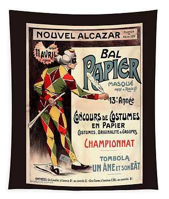 Nouvel Alcazar 1908 Vintage French Advertising  Tapestry