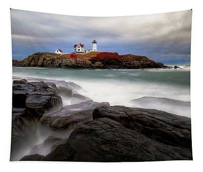 Nubble Lighthouse, York Me. Tapestry