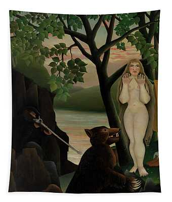 Nude And Bear, 1901  Tapestry