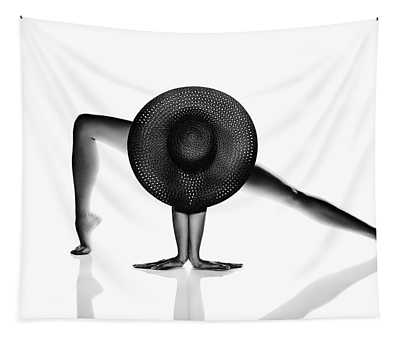 Nude Woman Black Hat Tapestry
