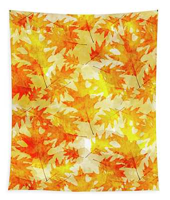 Oak Leaf Pattern Tapestry