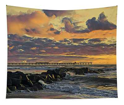 Ob Sunset No. 3 Tapestry