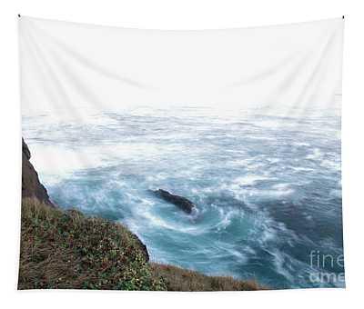 Ocean Long Exposure Boiler Bay Oregon Tapestry