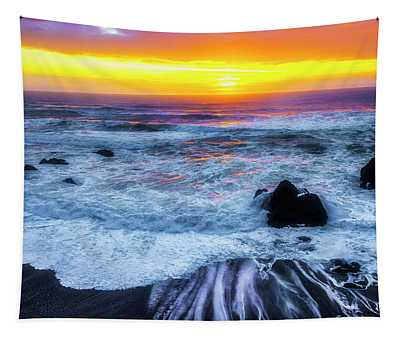 Ocean Sunset Sonoma Coast Tapestry