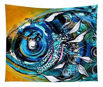 Ochre Fish Four Tapestry