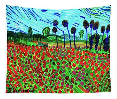 Ode To Van Gogh Tapestry