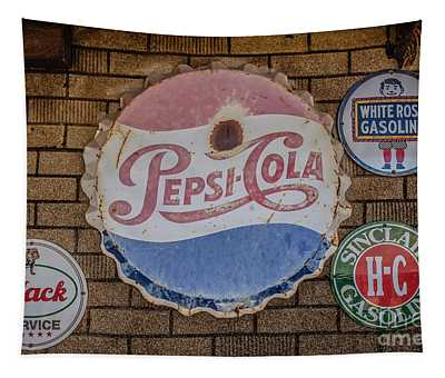 Old Advertising Signs Tapestry