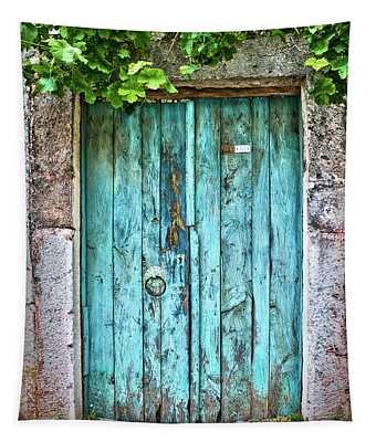 Old Blue Door Tapestry