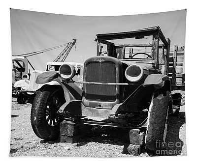 Old Chevy Work Truck In The Desert Tapestry