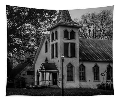 Old Church - Bw Tapestry