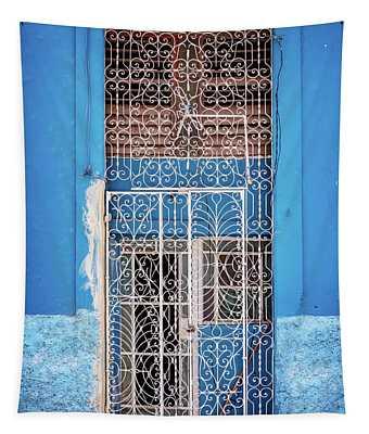 Old Door In Havana Tapestry