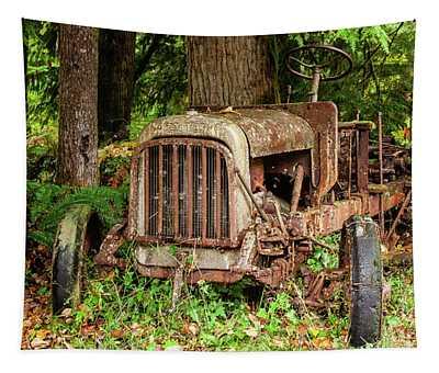 Old Logging Equipment-1 Tapestry
