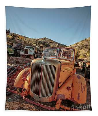 Old Mack Fire Engine Abandoned In Arizona Tapestry