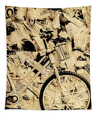 Old Newsprint Delivery Tapestry
