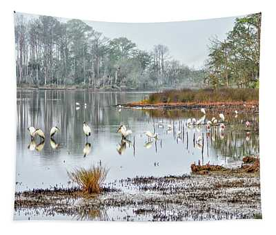 Old Rice Pond Tapestry