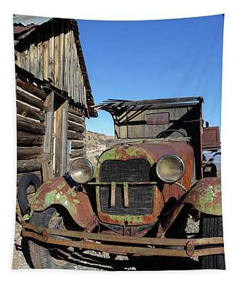 Old Rusty Truck Gold King Ghost Town Tapestry