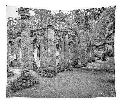 Old Sheldon Church - Angled Tapestry