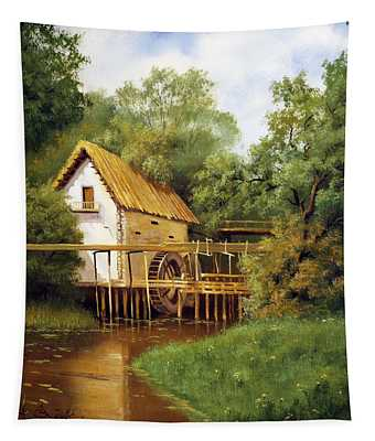 Old Watermill Tapestry