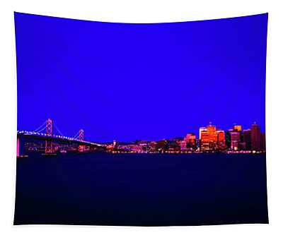 San Francisco, Skyline, Dawn, Vignette Oakland, Bay, Bridge, From Treasure,island Tapestry
