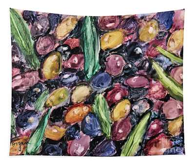 Olives Ready For Pressing Tapestry